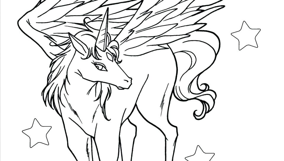 Realistic Pegasus Coloring Pages