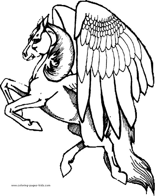 590x745 Pegasus Coloring Pages