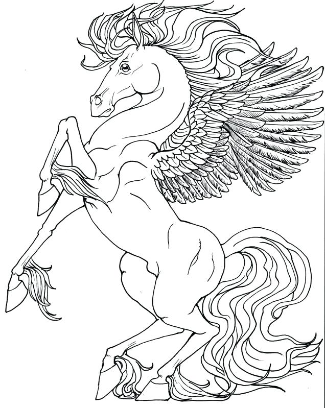 636x799 Pegasus Coloring Pages And Coloring Page Realistic Pegasus