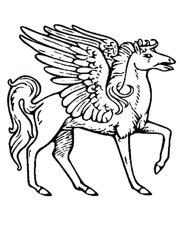 600x788 Pegasus Coloring Pages Coloring Pages Coloring Page For Kids
