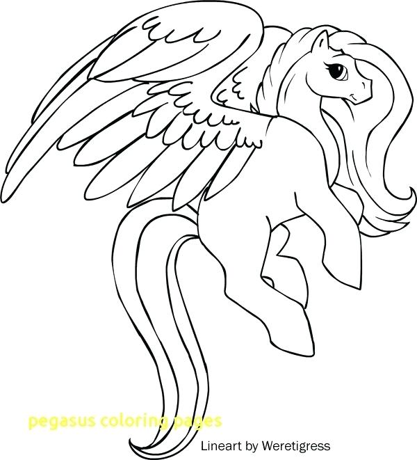 600x661 Pegasus Coloring Pages Coloring Pages With Coloring Pages