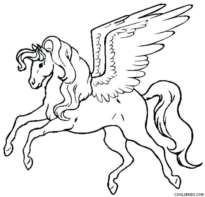 686x661 Pegasus Coloring Pages Realistic Pegasus Coloring Pages