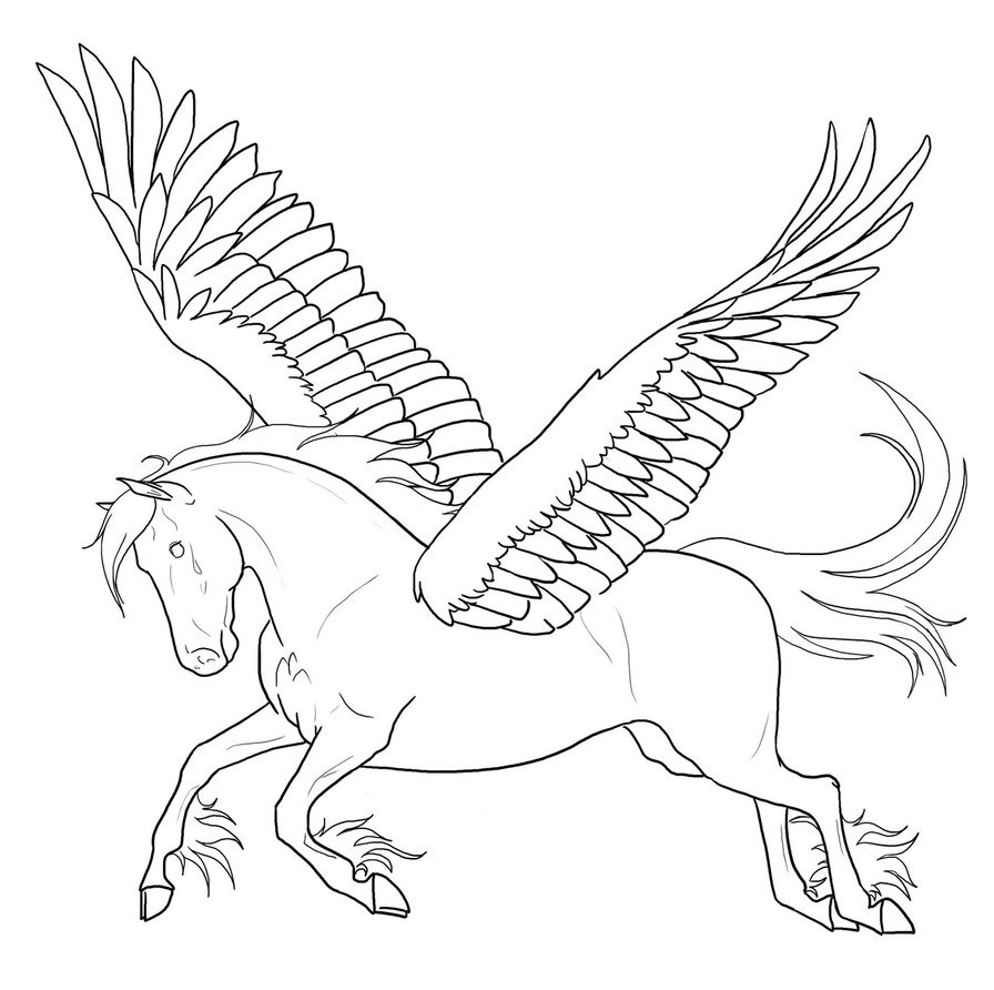 896x892 Pegasus Coloring Pages To Download And Print For Free