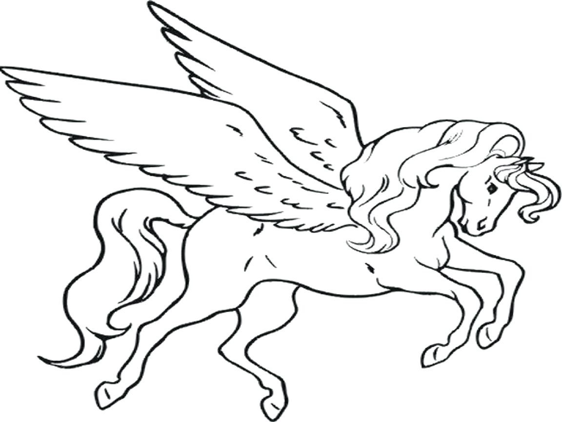 1152x864 Realistic Pegasus Coloring Pages Unicorn Fairy Tales Printable Art