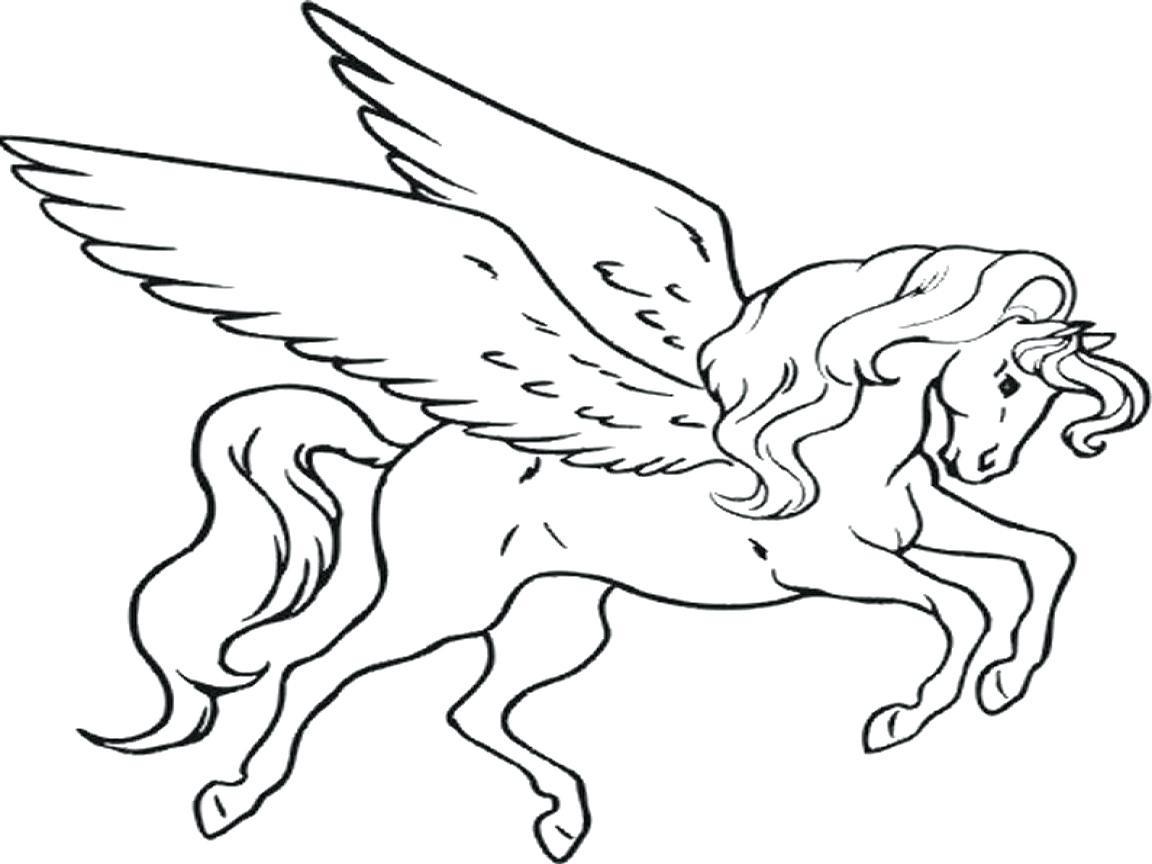 Realistic Pegasus Coloring Pages at GetDrawings | Free ...