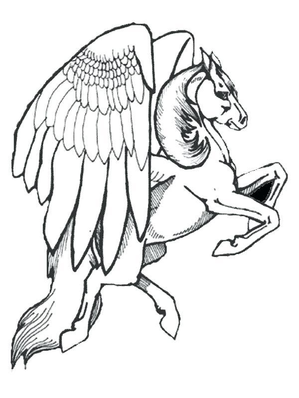 600x799 Pegasus Coloring Page
