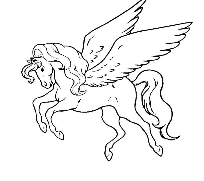 678x600 Pegasus Coloring Page
