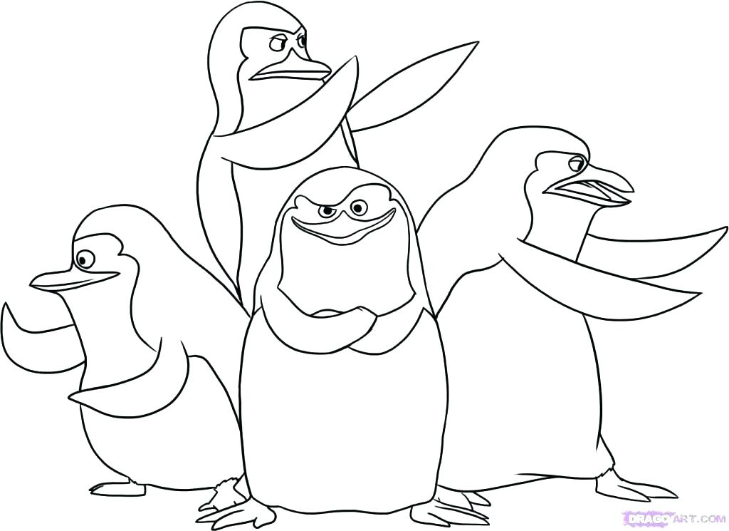 1024x745 Penguins Coloring Pages Penguin Family Colouring Pages Emperor