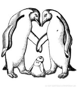 263x300 Realistic Penguin Coloring Pages