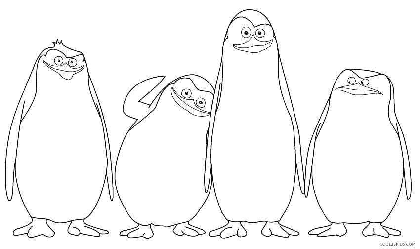850x504 Coloring Pages Of Penguins