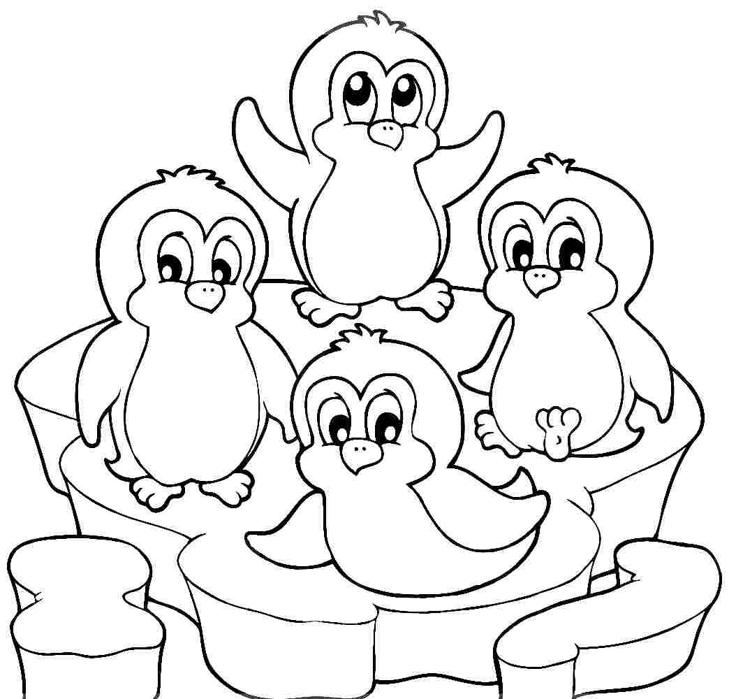 1054x1000 Cute Penguins Coloring Pages Printable Coloring For Kids
