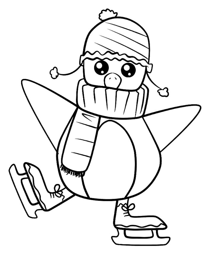 700x875 Cute Penguin Coloring Pages Download And Print For Free