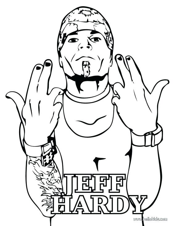 564x730 Realistic Jeff Hardy Sketch Printable To Color Famous People