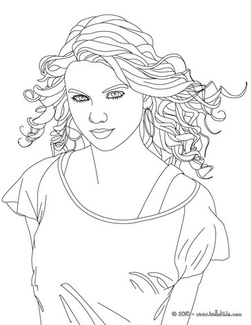 364x470 Taylor Swift Coloring Pages