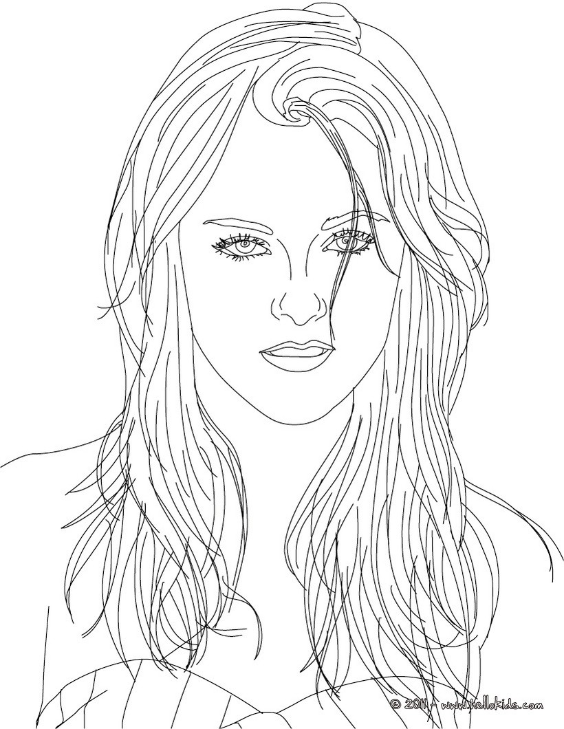 820x1060 American Celebrities Coloring Pages Kristen Stewart Celebrity