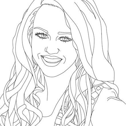 440x440 Attractive Realistic People Coloring Pages Pictures