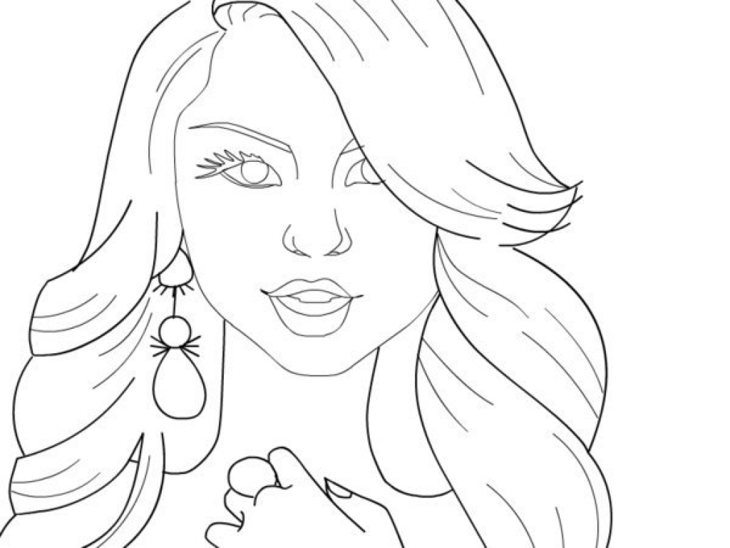 1024x768 Coloring Pages Of People Realistic Download Image