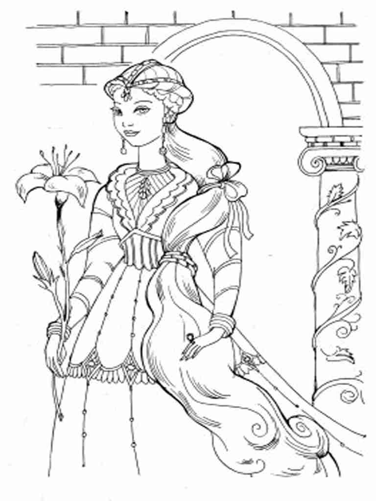768x1024 Realistic Princess Coloring Pages For Adults Colouring In Sweet