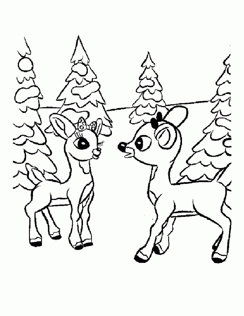791x1024 Powerful Clarice The Reindeer Coloring Page Ne