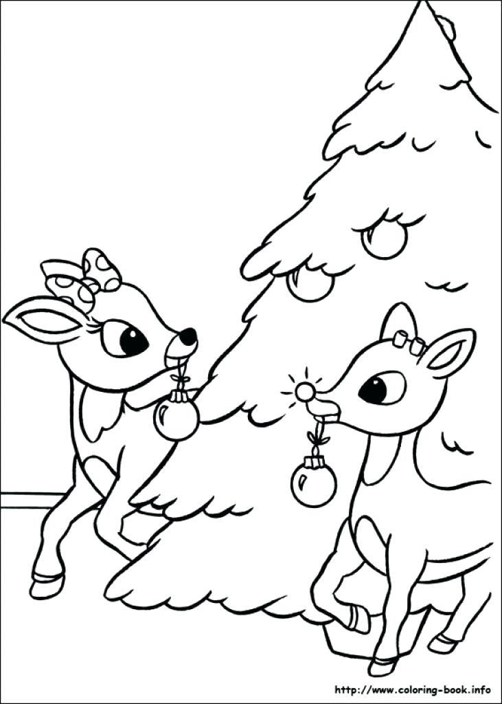 731x1024 Clarice The Reindeer Coloring Page Sizable The Red Nosed Reindeer