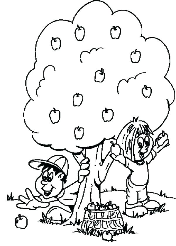 600x839 The Giving Tree Coloring Pages The Giving Tree Coloring Pages