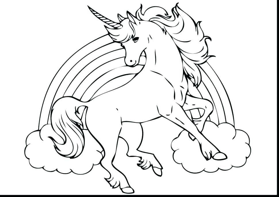 Realistic Unicorn Coloring Pages at GetDrawings | Free ...