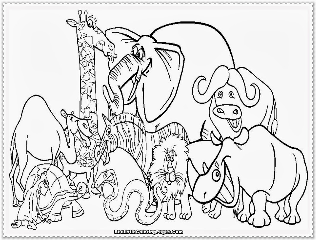 Realistic Wildlife Coloring Pages at GetDrawings.com | Free for ...