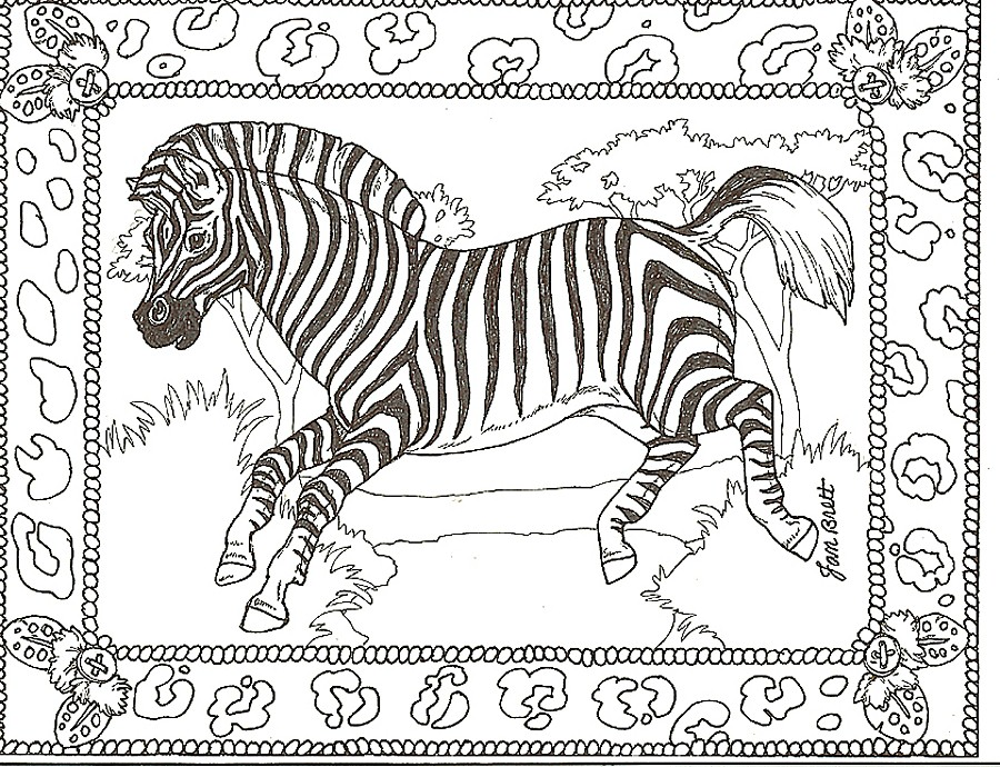 900x690 Zebra Coloring Pages