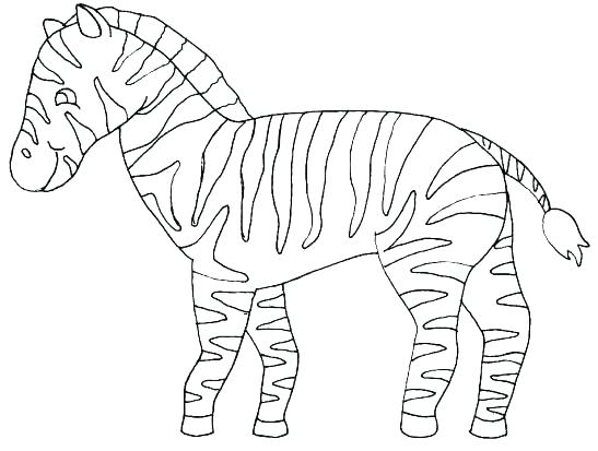 547x413 Coloring Pages Animals Hard Printable Coloring Zebra Color Sheet