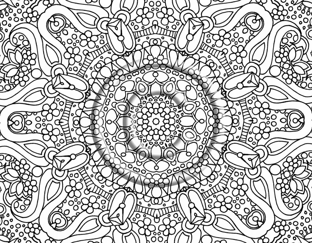 1024x798 Trendy Idea Detailed Coloring Pages For Adults Free Printable