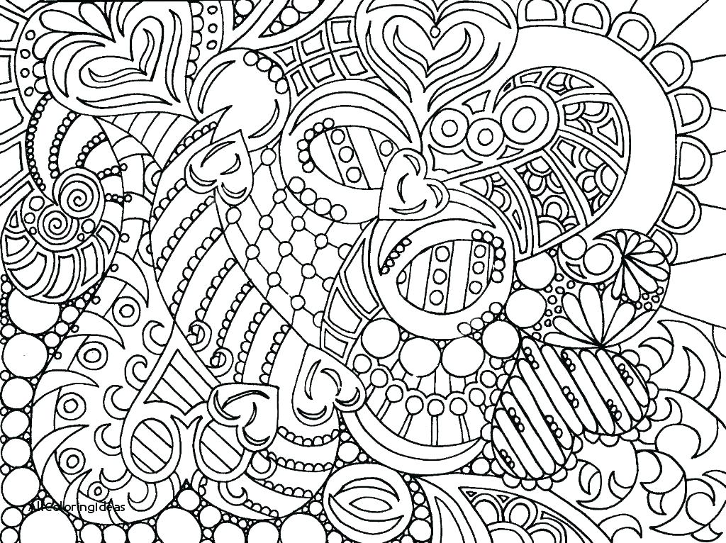 1024x766 Hard Mandala Coloring Pages Best Very Difficult Mandala Coloring