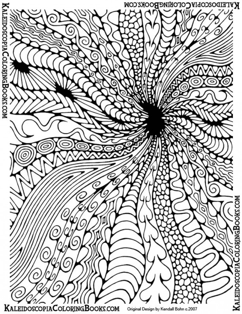 773x1000 Super Hard Abstract Coloring Pages For Adults