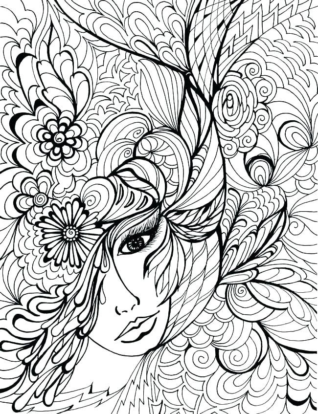 650x847 Extremely Hard Coloring Pages Vanda