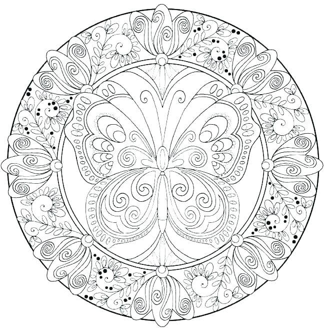650x655 Really Hard Coloring Pages
