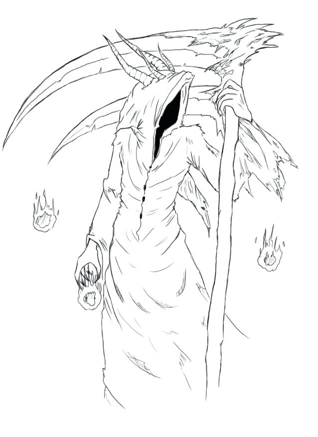 Reaper Coloring Pages At Getdrawings Free Download