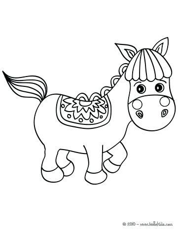 363x470 Horse Coloring Pages To Print Horse In Pasture Cute Little Horse