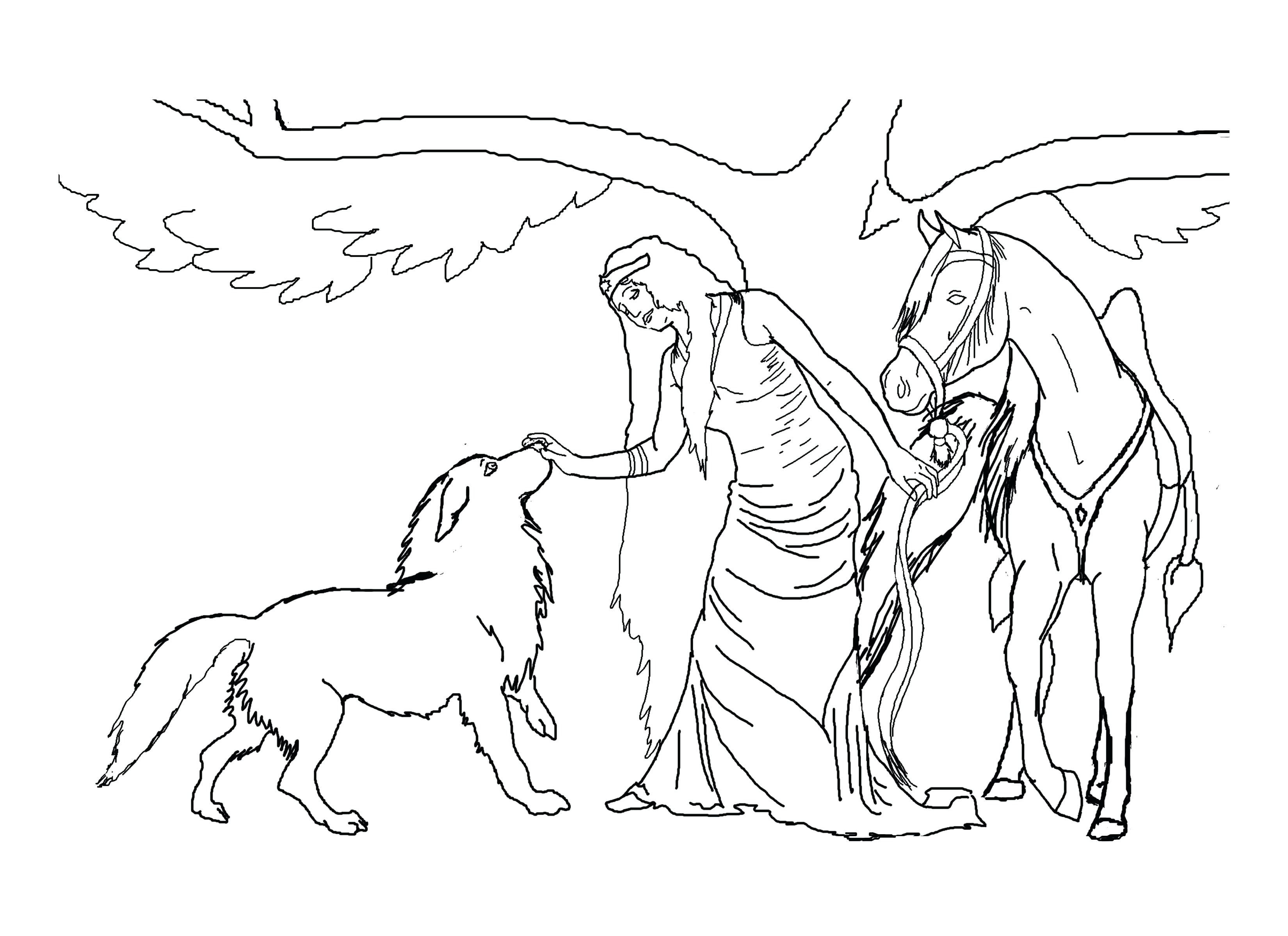3300x2400 Horse Rearing Up Coloring Pages Astounding With Horses In Page