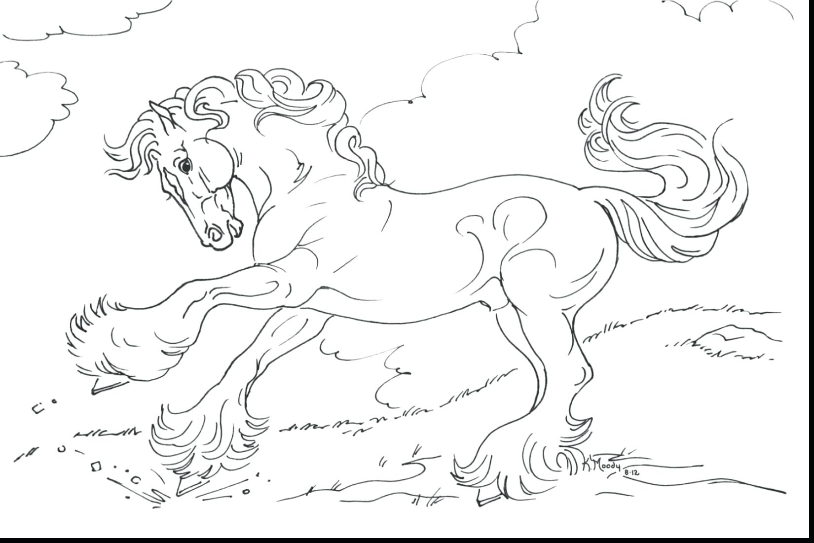 1650x1101 Picture Of Horse Rearing In Horses Coloring Page Pages Online
