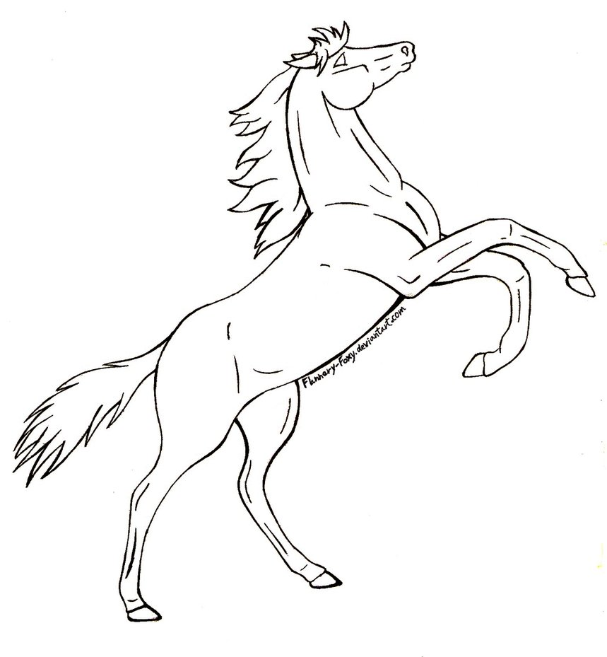 859x929 Rearing Horse Coloring Pages New Glum Me