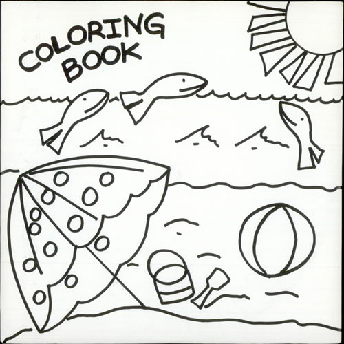 500x500 My Coloring Book Coloring Book Sand In My Shoes Us Vinyl Single