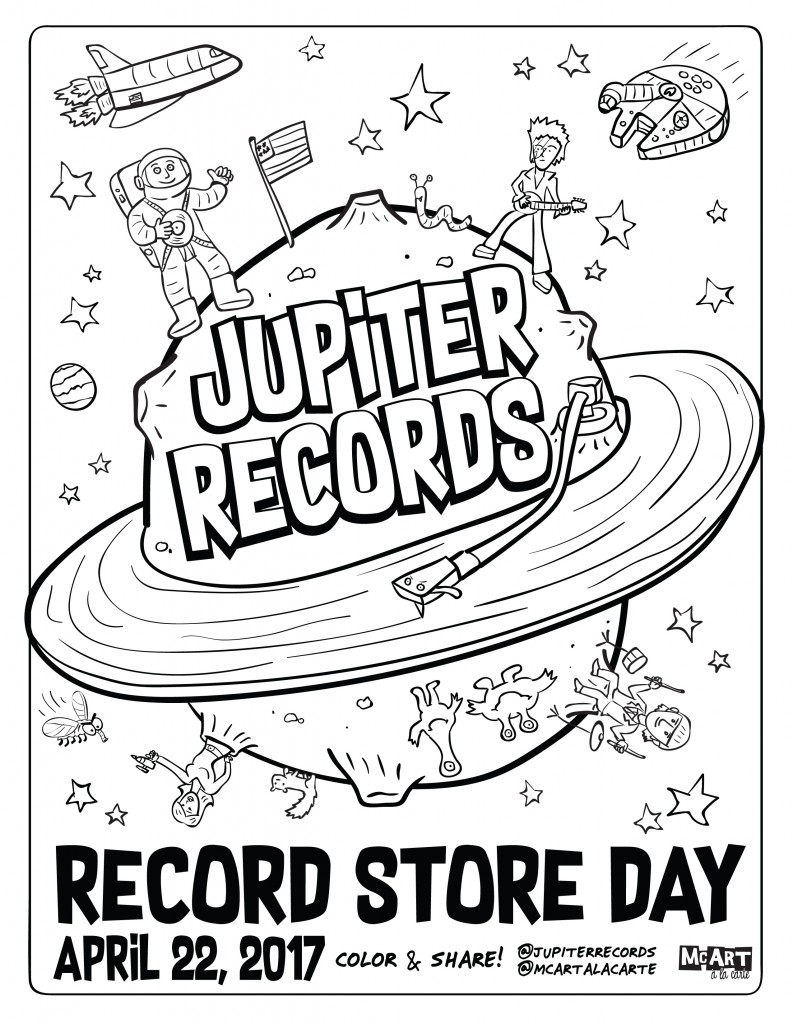 793x1024 Record Coloring Page
