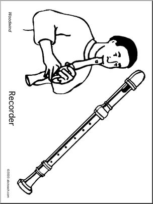 304x404 Coloring Page Recorder Abcteach