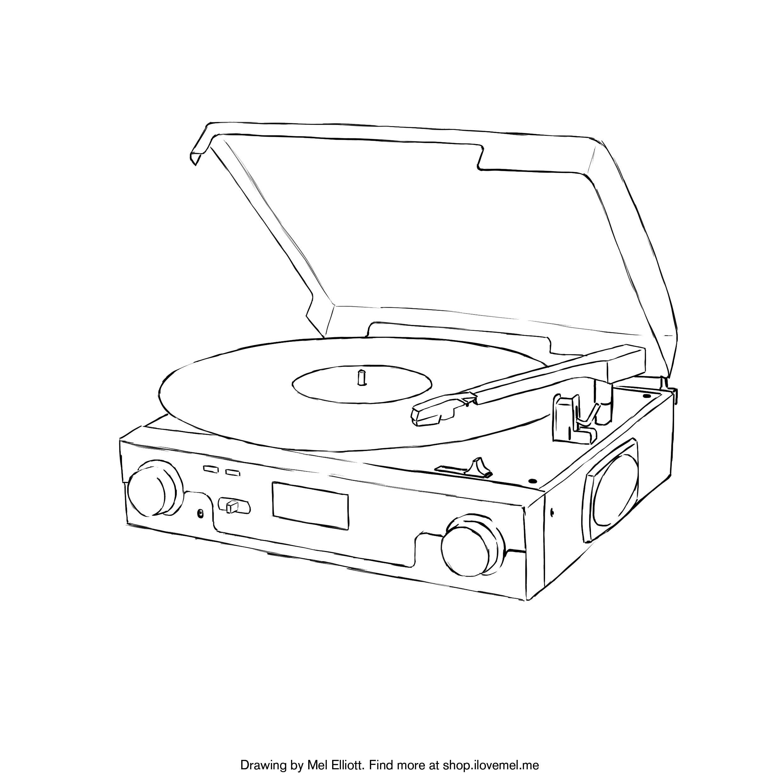 2480x2480 Record Coloring Page