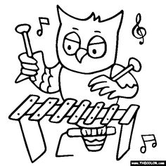 236x236 Recorder Coloring Page And Other Instruments Potpourri