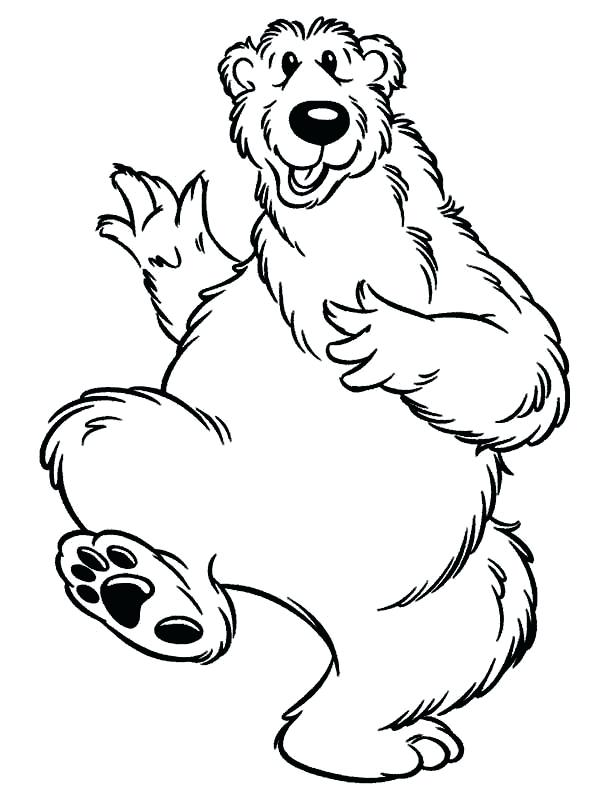 600x796 Bear In The Big Blue House Coloring Pages Yoschool Site