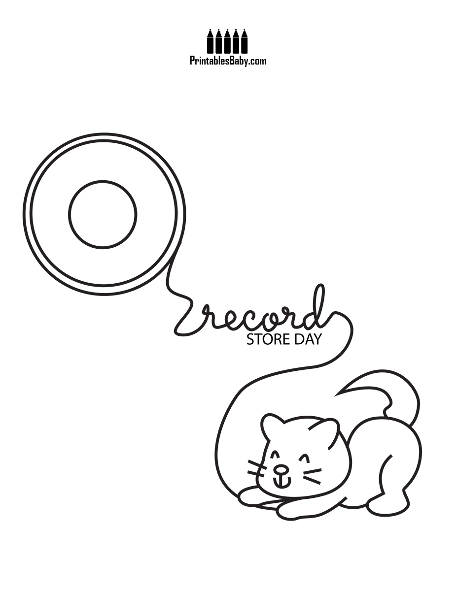 927x1200 Amazing Record Coloring Page Pages Printables Baby Free Printable