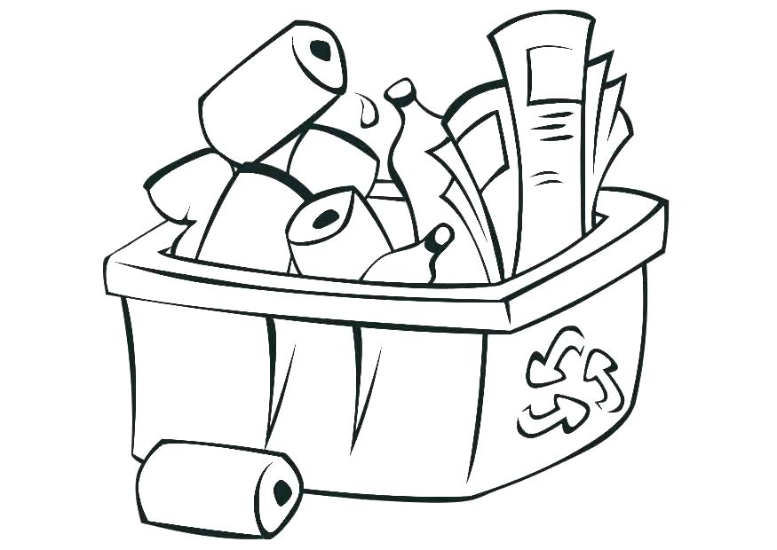 875x620 Recycle Coloring Pages Free Printable Pictures Recycling Coloring