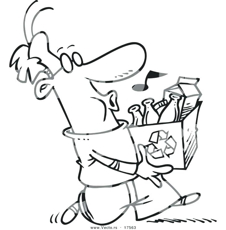 728x742 Recycle Coloring Pages Recycle Bin Colouring Page Recycle Bin