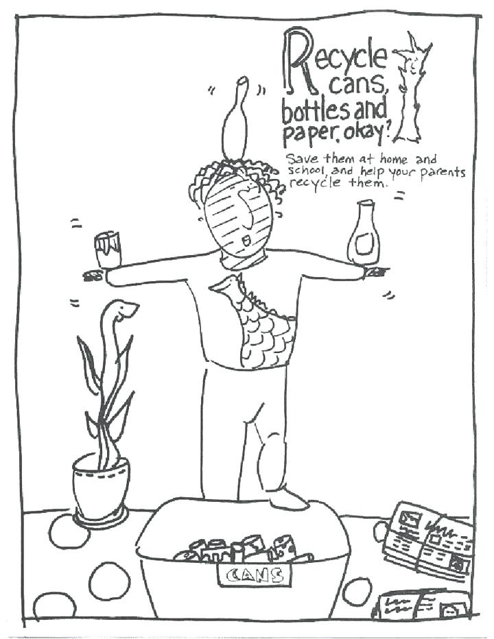 720x932 Recycle Coloring Pages Recycle Bin Colouring Page Recycling
