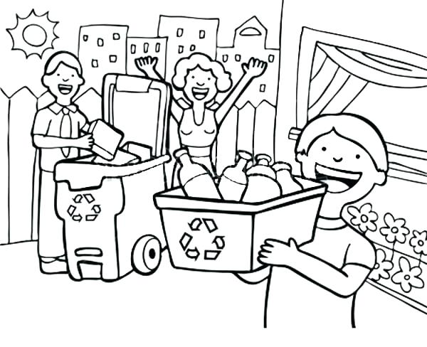 600x488 Recycle Coloring Pages Recycling Coloring Page Best Shots Recycle